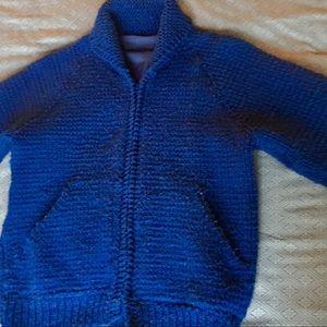 Royal Blue Wolf Knit Jacket!